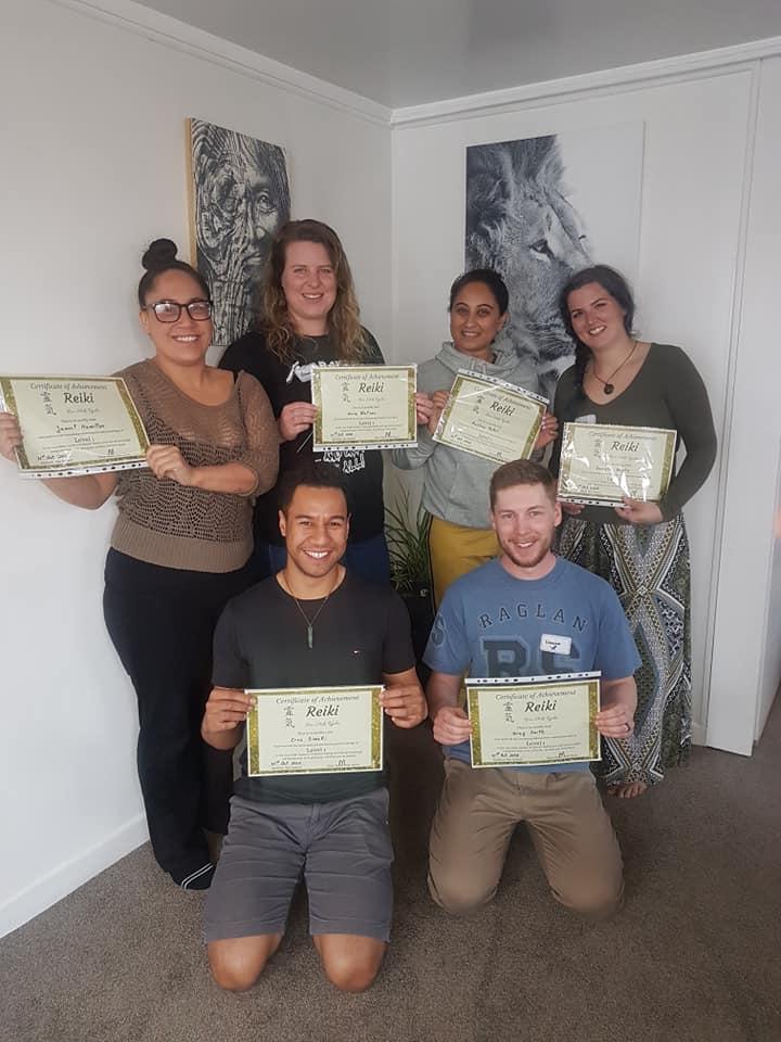 Reiki Workshop graduates